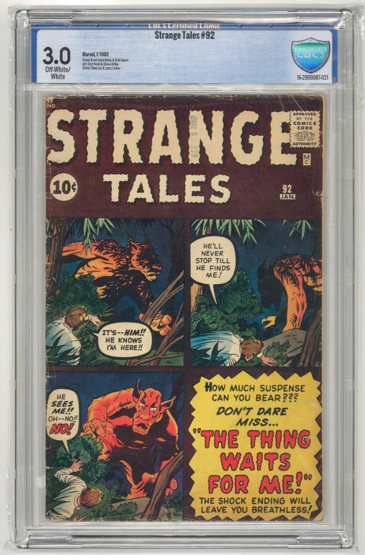 CBCS 3.0 Strange Tales #92 1962