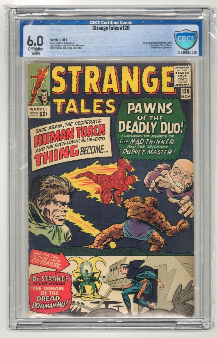 CBCS 6.0 Strange Tales #126 1964