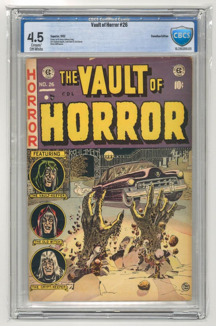 CBCS 4.5 Vault of Horror #26 1952 Canadian Edition