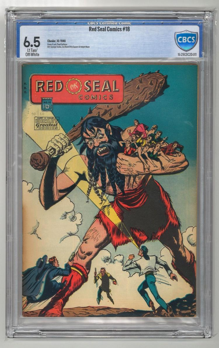 CBCS 6.5 Red Seal Comics #18 1946