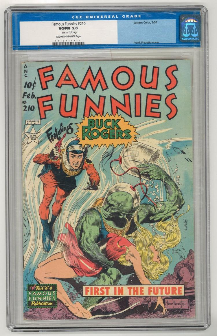 CGC 5.0 Famous Funnies #2 1954