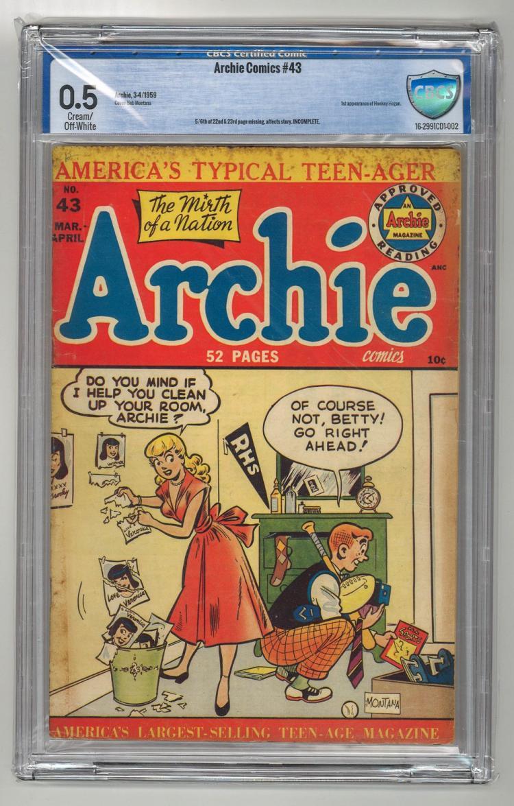 CBCS 0.5 Archie Comics #43 1959