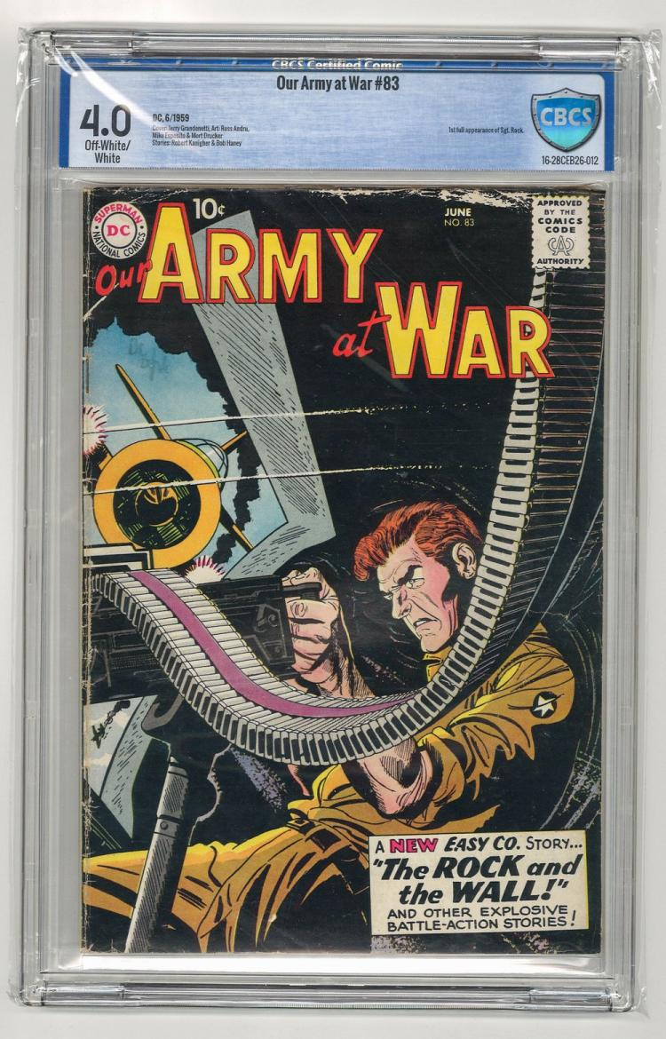 CBCS 4.0 Our Army at War #83 1959