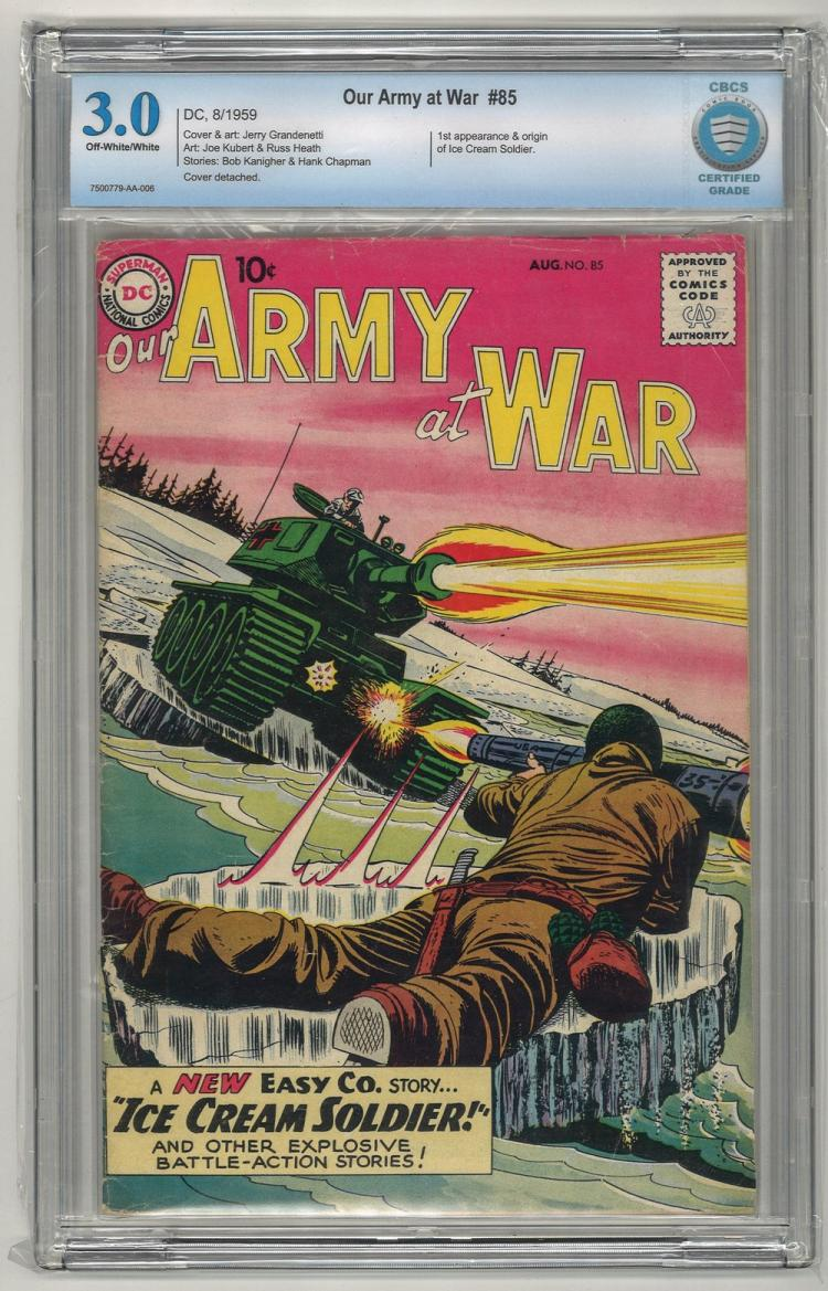 CBCS 3.0 Our Army at War #85 1959