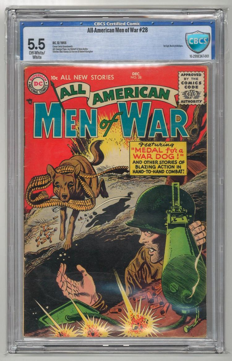 CBCS 5.5 All-American Men of War #28 1955