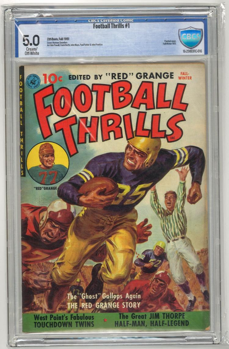 CBCS 5.0 Football Thrills #1 1951