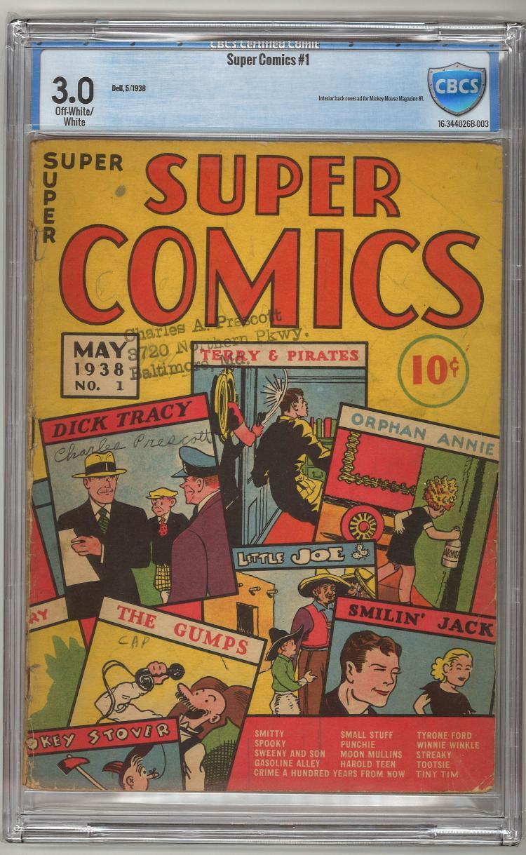 CBCS 3.0 Super Comics #1 1938