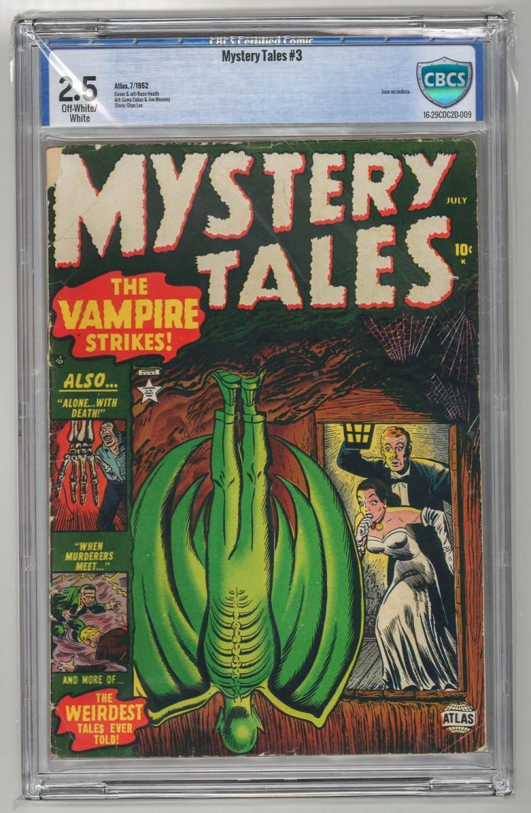 CBCS 2.5 Mystery Tales #3 1952