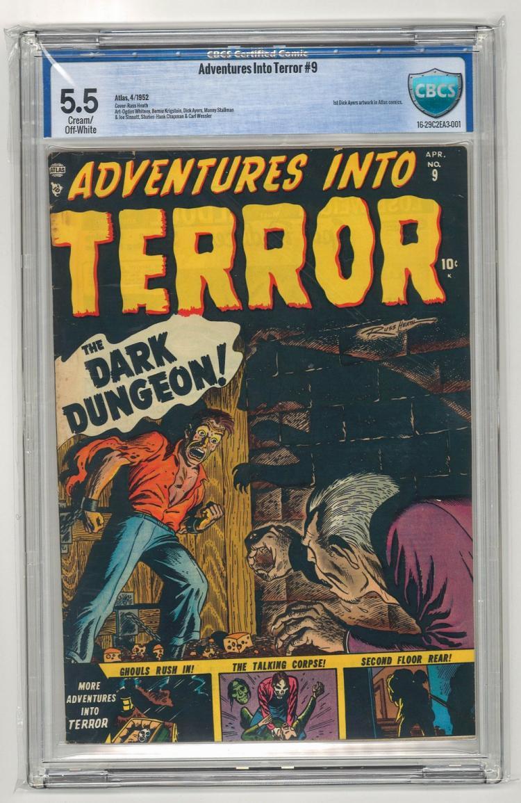 CBCS 5.5 Adventures Into Terror #9 1952
