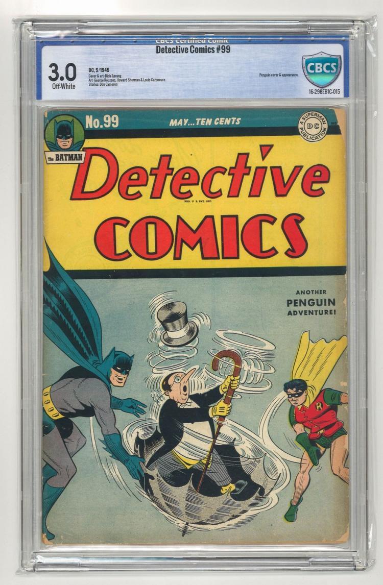 CBCS 3.0 Detective Comics #99 1945