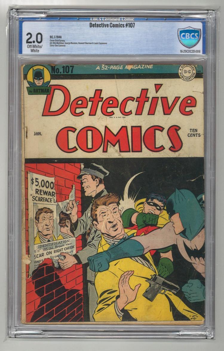 CBCS 2.0 Detective Comics #107 1946