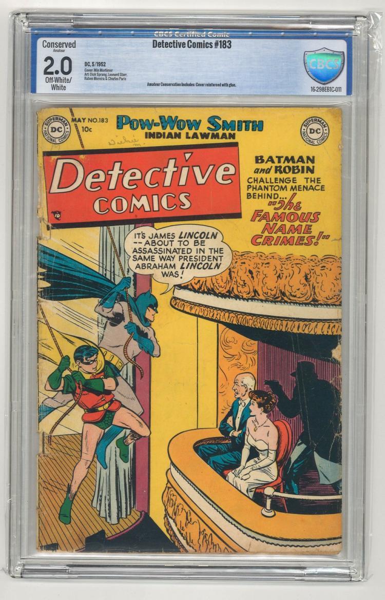 CBCS 2.0 Detective Comics #183 1952