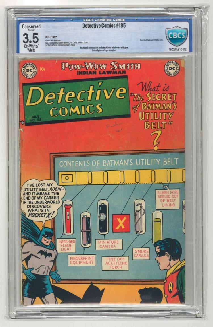 CBCS 3.5 Detective Comics #185 1952