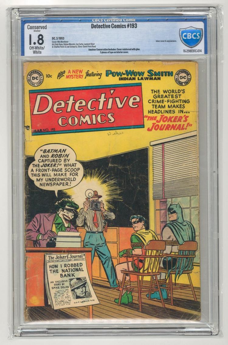 CBCS 1.8 Detective Comics #193 1953