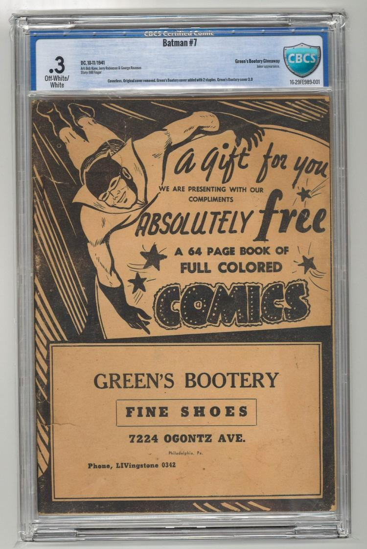 CBCS 0.3 Batman #7 1941