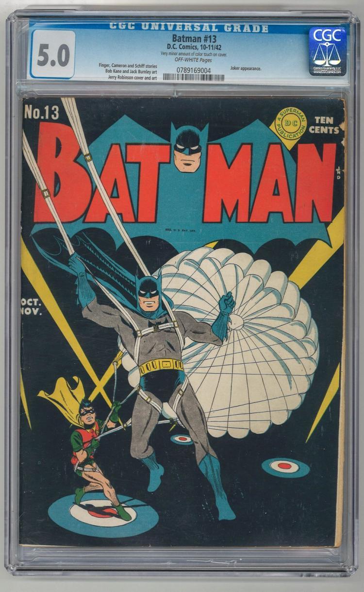 CGC 5.0 Batman #13 1942