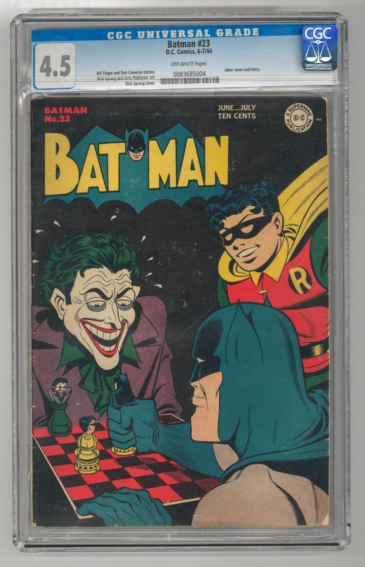 CGC 4.5 Batman #23 1944