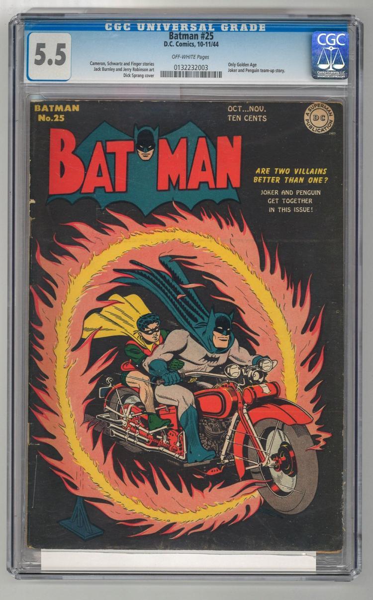 CGC 5.5 Batman #25 1944