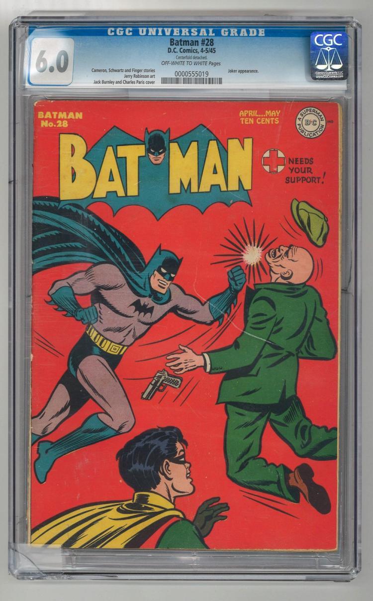 CGC 6.0 Batman #28 1945