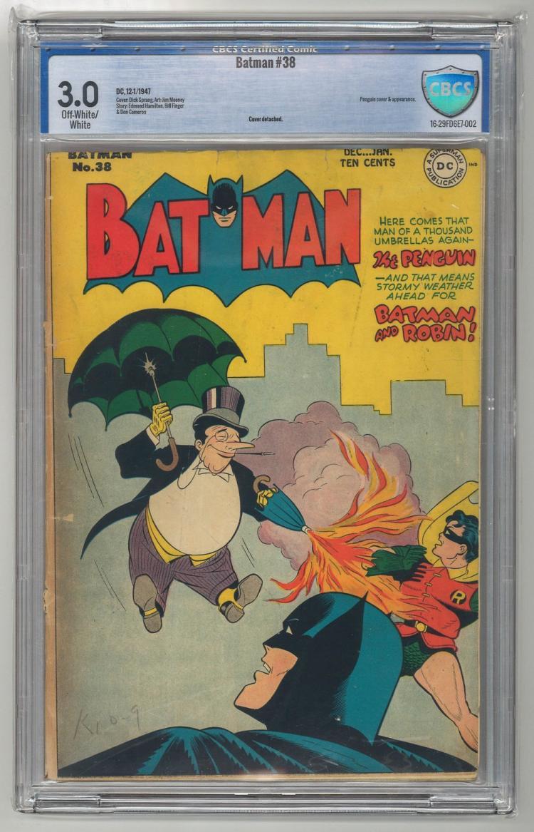 CBCS 3.0 Batman #38 1947