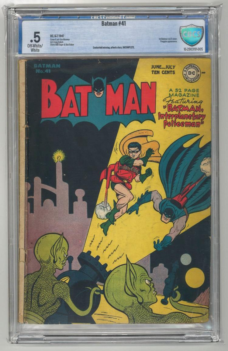 CBCS 0.5 Batman #41 1947