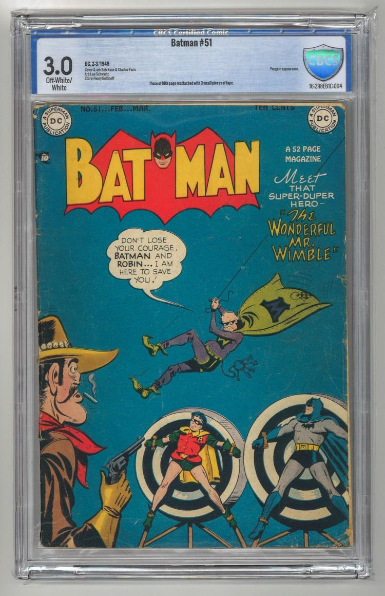 CBCS 3.0 Batman #51 1949