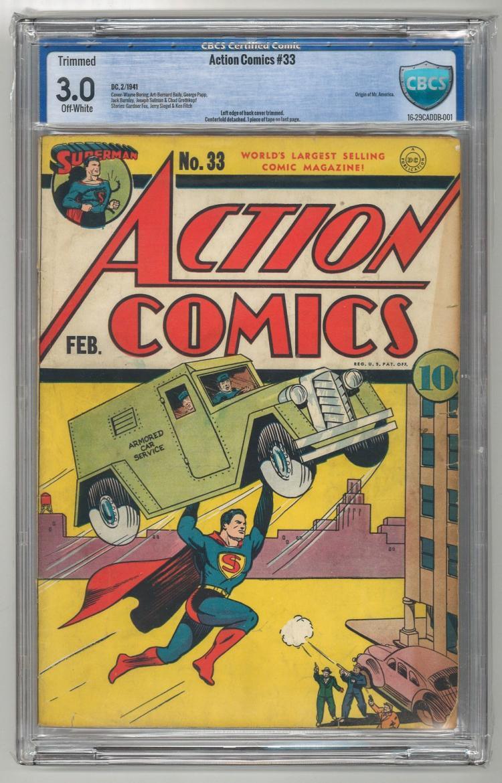 CBCS 3.0 Action Comics #33 1941