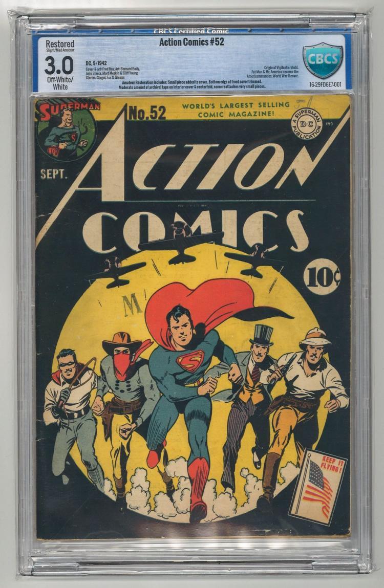 CBCS 3.0 Action Comics #52 1942