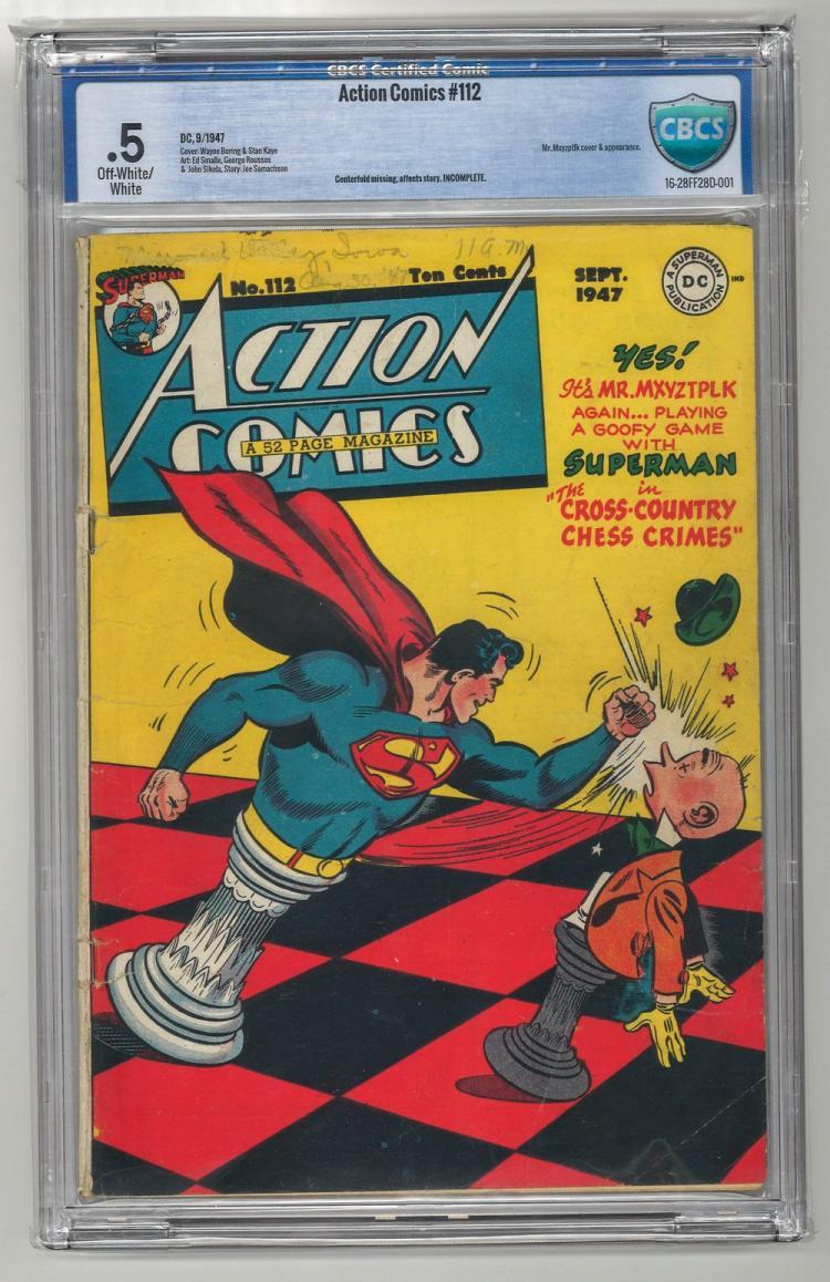 CBCS 0.5 Action Comics #112 1947