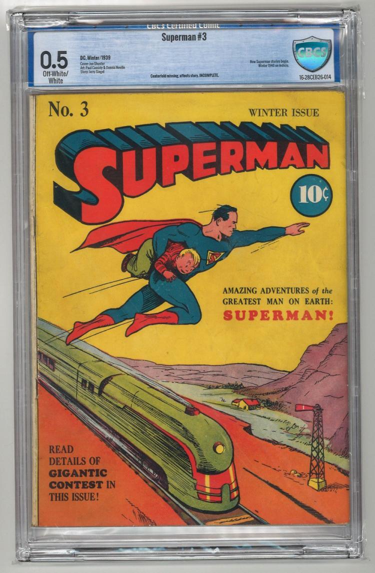 CBCS 0.5 Superman #3 1939