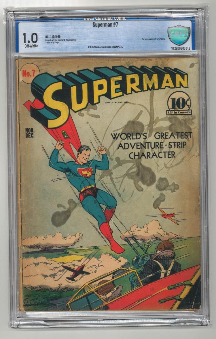CBCS 1.0 Superman #7 1940