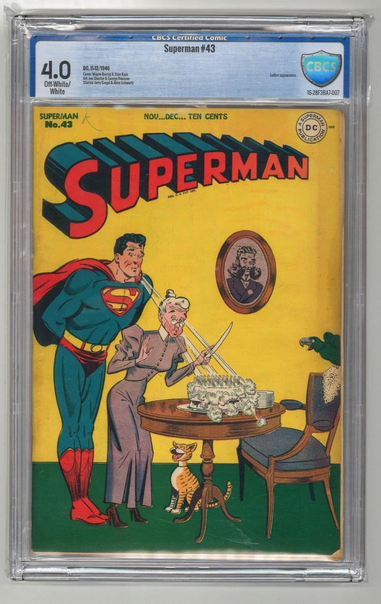 CBCS 4.0 Superman #43 1946