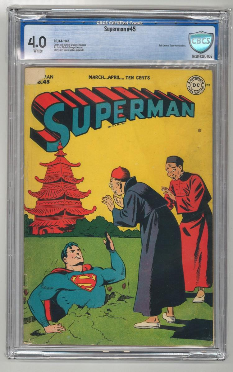 CBCS 4.0 Superman #45 1947