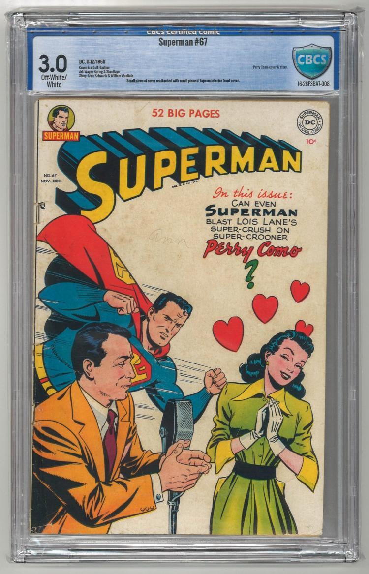 CBCS 3.0 Superman #67 1950
