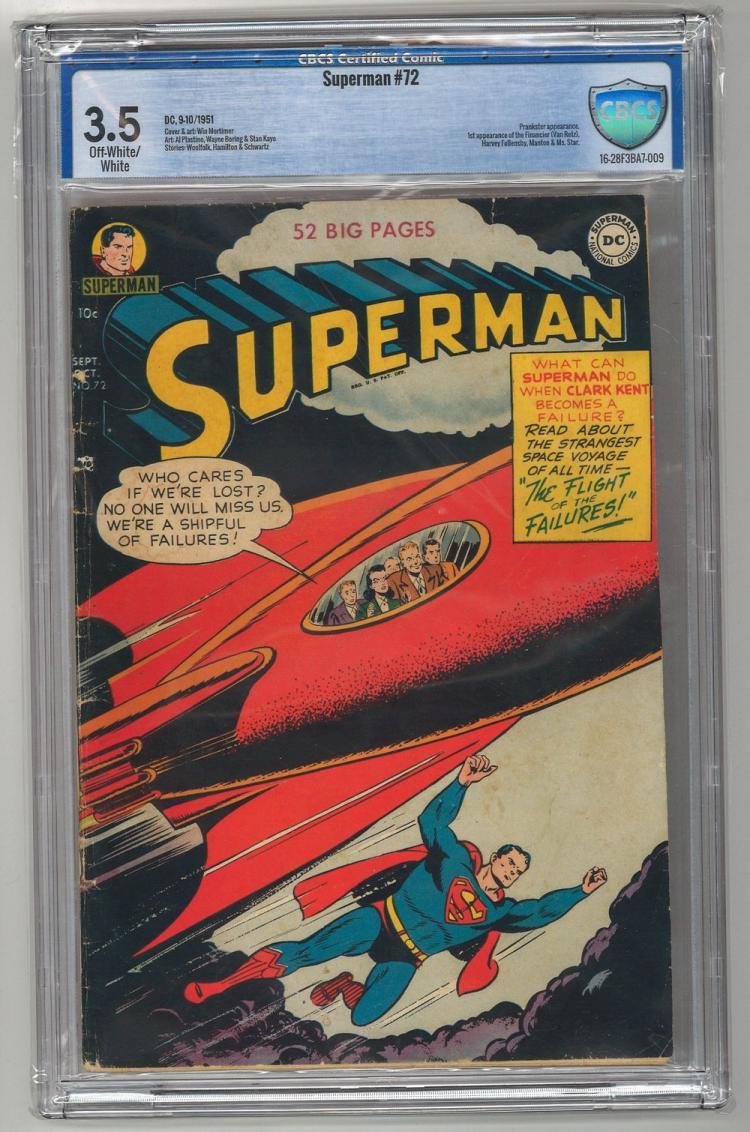 CBCS 3.5 Superman #72 1951