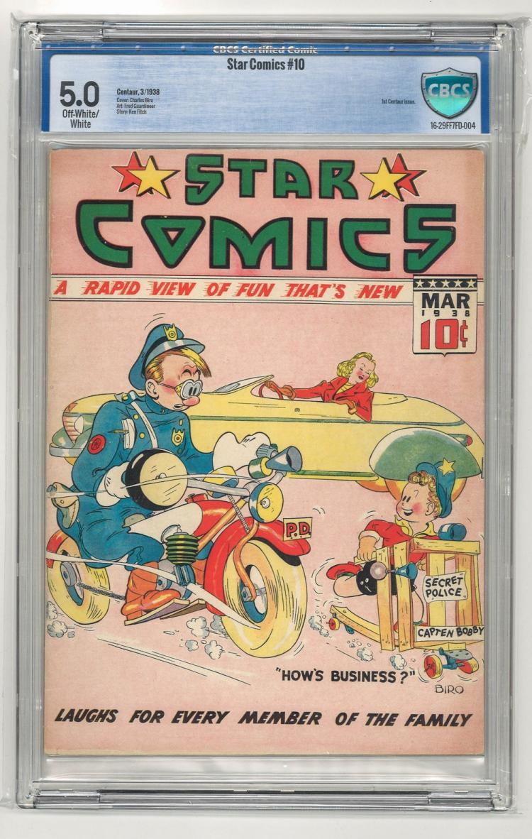 CBCS 5.0 Star Comics #10 1938
