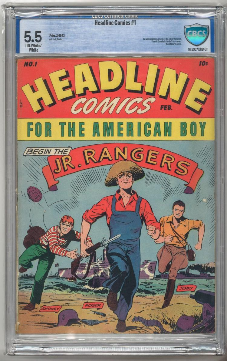 CBCS 5.5 Headline Comics #1 1943