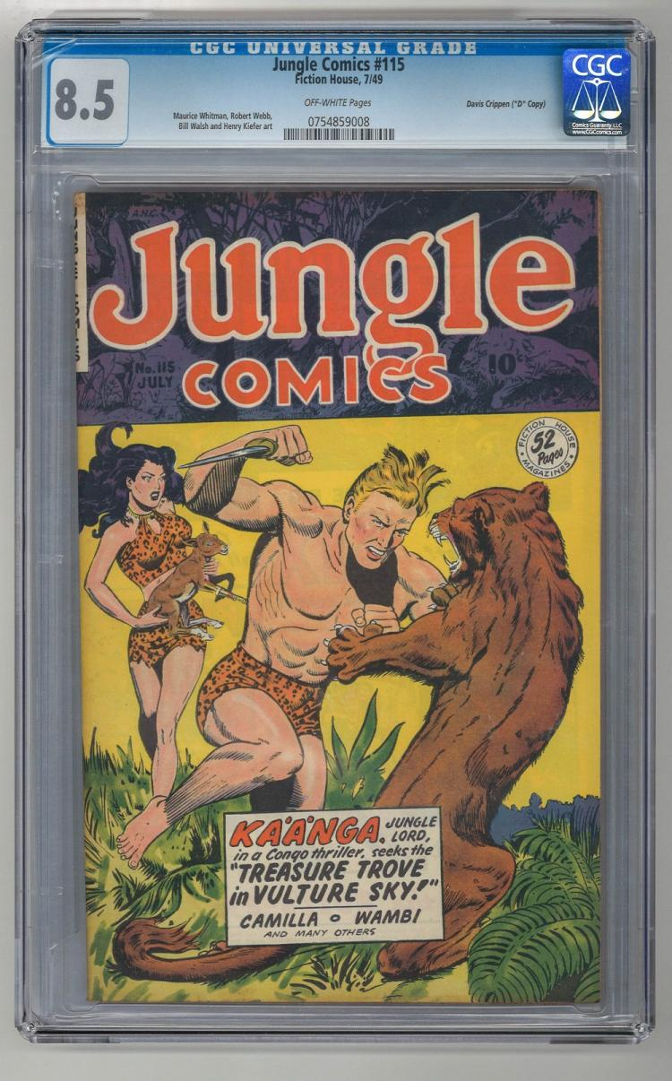 CGC 8.5 Jungle Comics #115 1949 Davis Crippen Copy