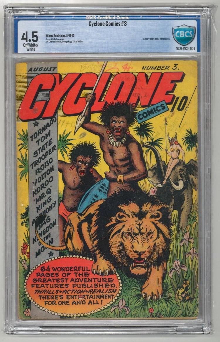 CBCS 4.5 Cyclone Comics #3 1940