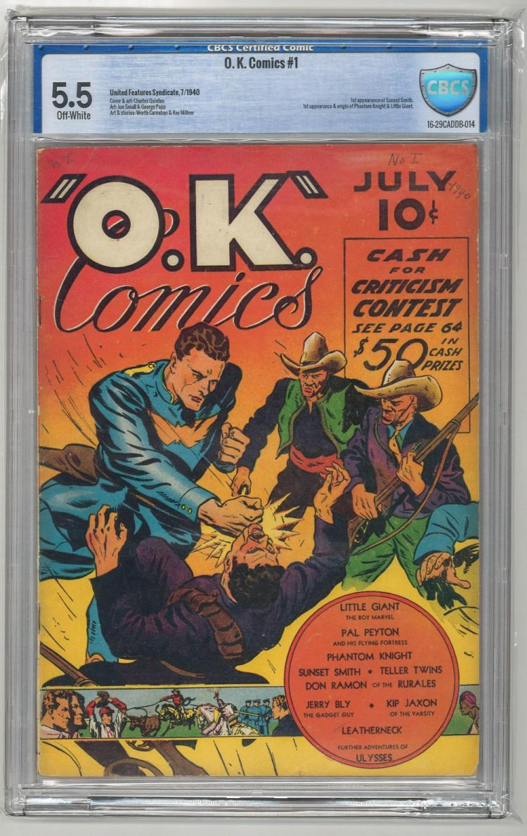 CBCS 5.5 O.K. Comics #1 1940