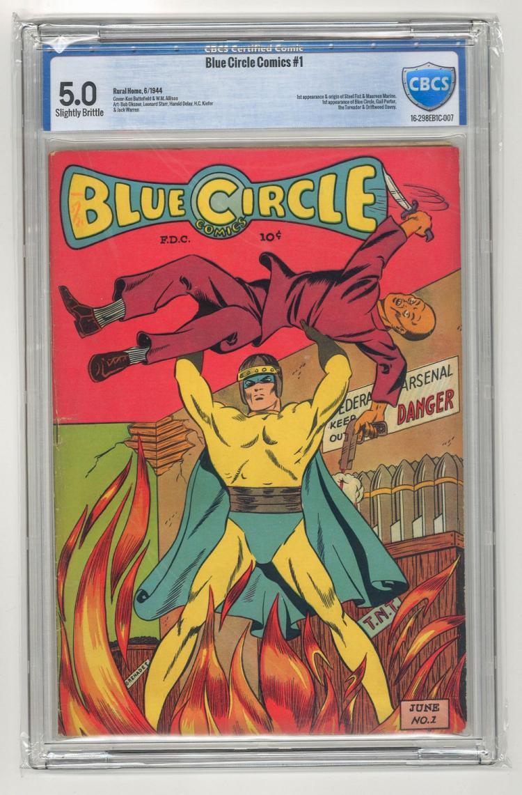 CBCS 5.0 Blue Circle Comics #1 1944