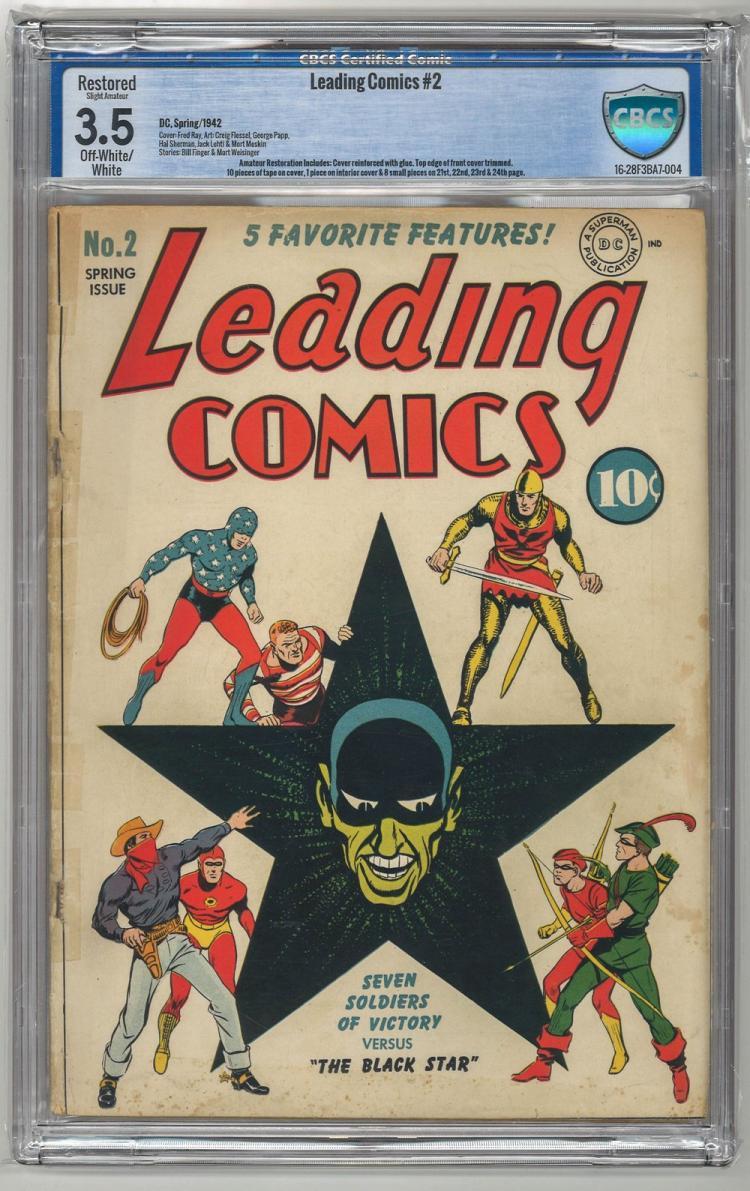 CBCS 3.5 Leading Comics #2 1942