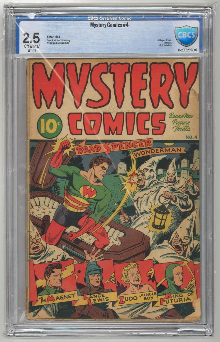 CBCS 2.5 Mystery Comics #4 1944