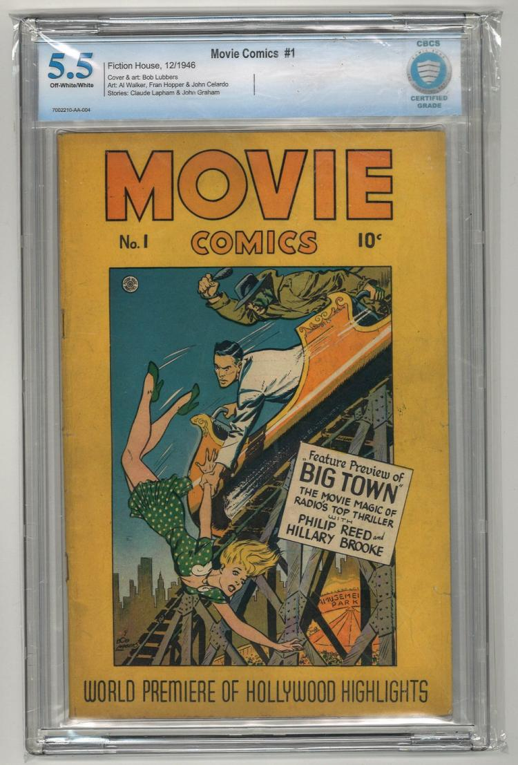 CBCS 5.5 Movie Comics #1 1946