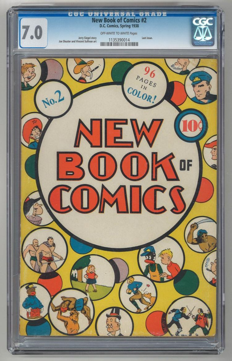 CGC 7.0 New Book of Comics #2 1938
