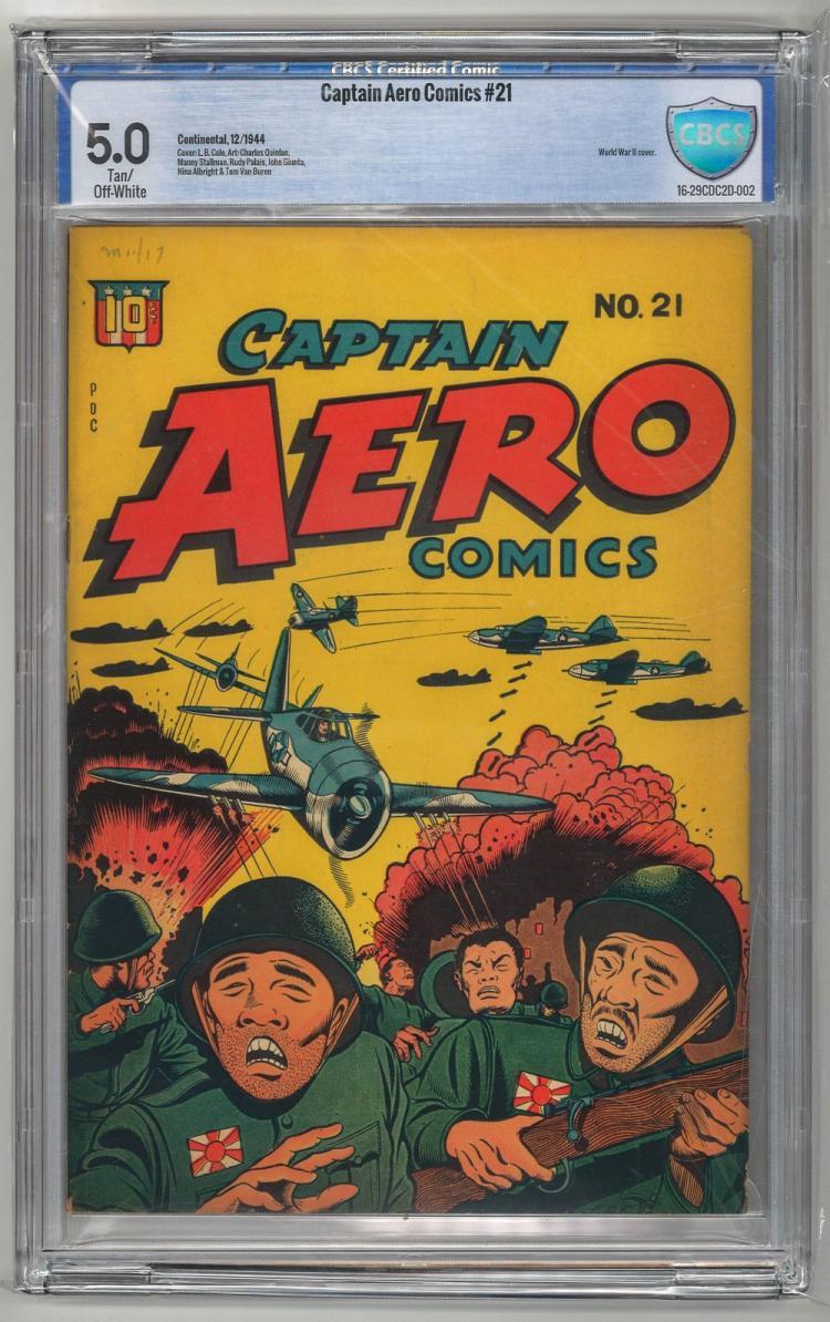 CBCS 5.0 Captain Aero Comics #21 1944