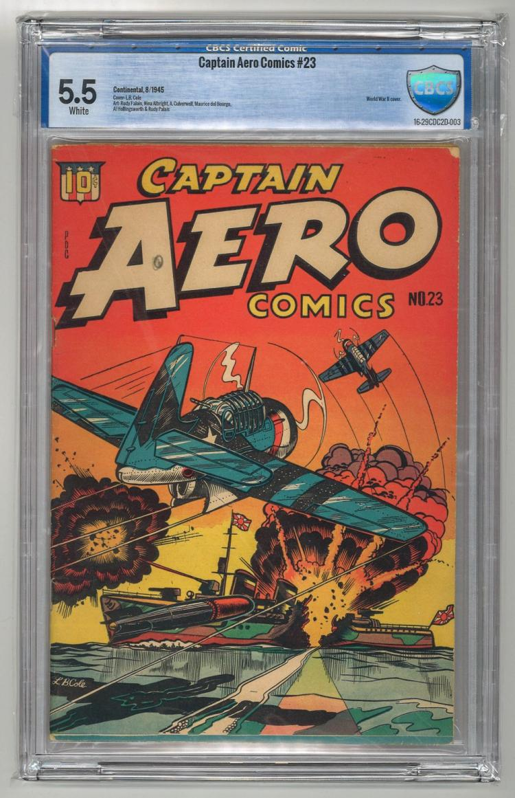 CBCS 5.5 Captain Aero Comics #23 1945