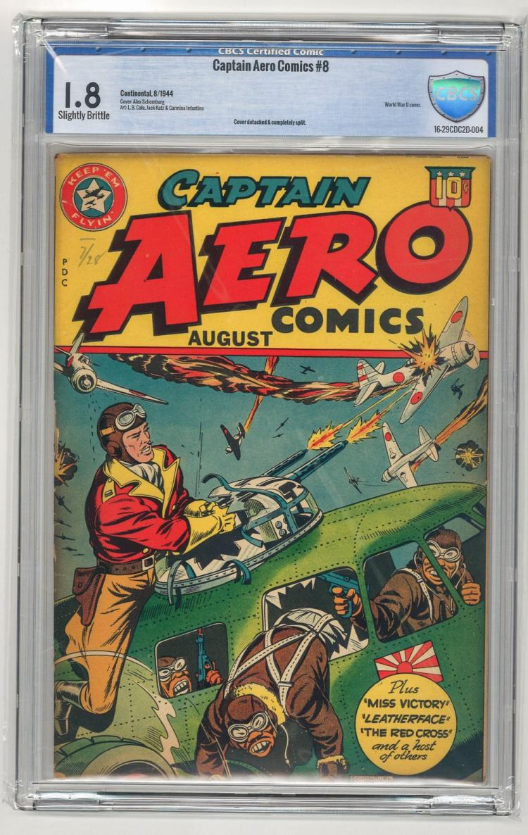 CBCS 1.8 Captain Aero Comics #8 1944