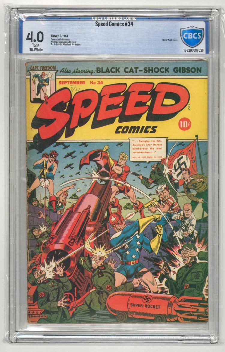 CBCS 4.0 Speed Comics #34 1944