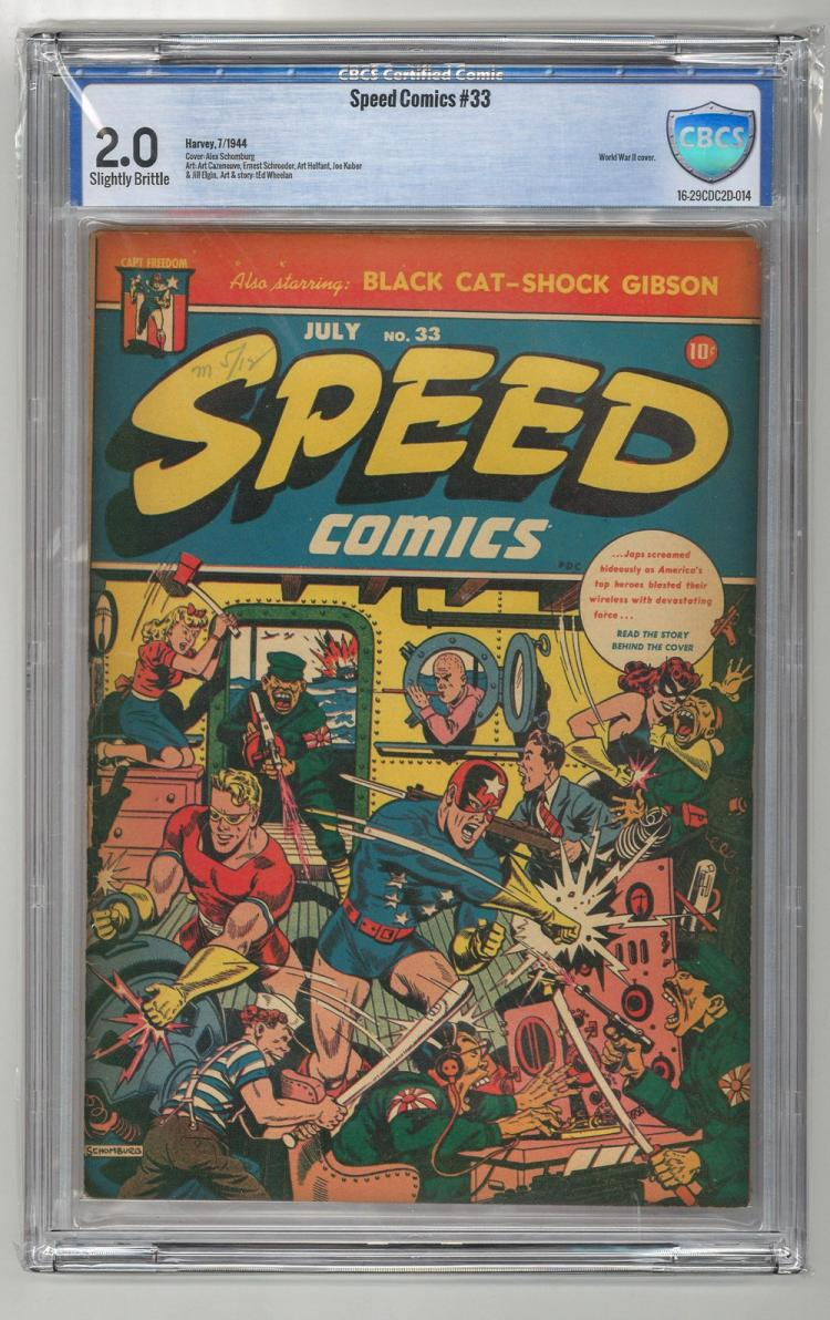 CBCS 2.0 Speed Comics #33 1944